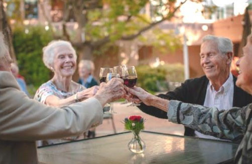 residents toasting