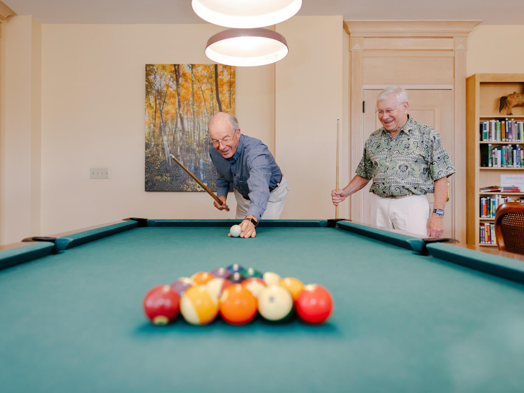 Men playing billards