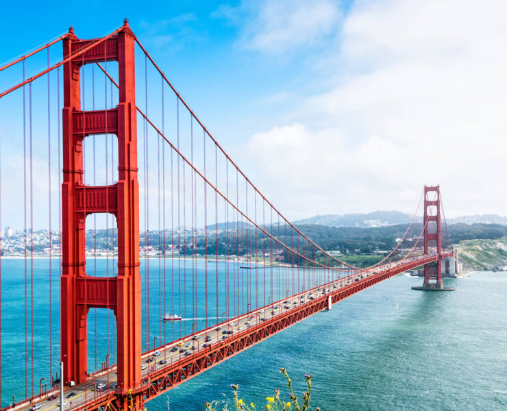 Golden Gate bridge over San Francisco Bay