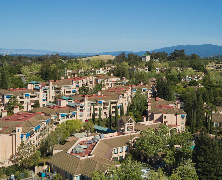 birdseye view of apartment homes