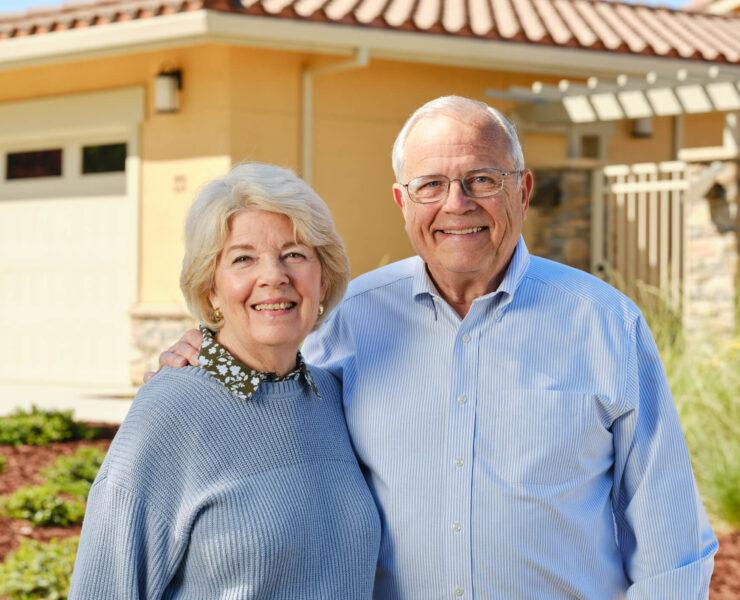 happy couple of residents