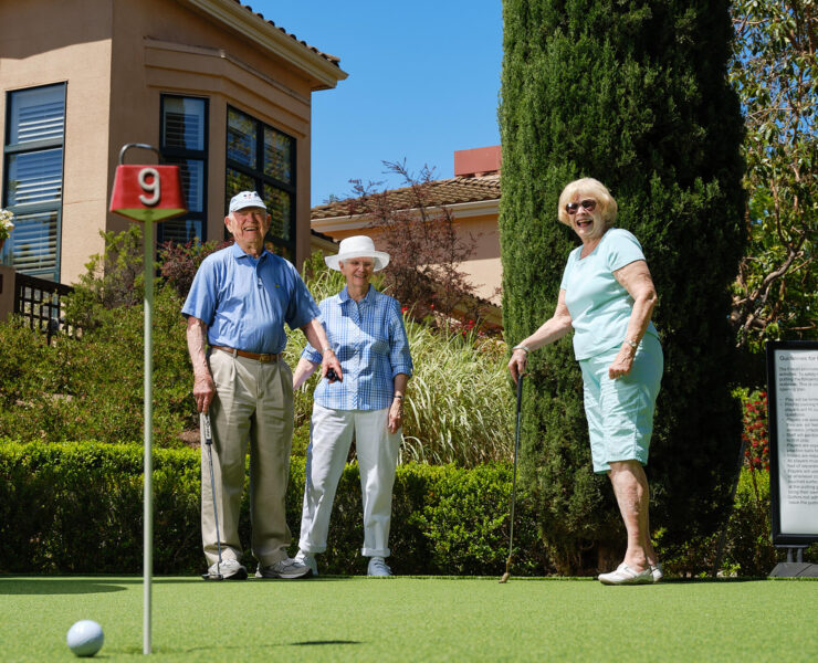 residents playing golf