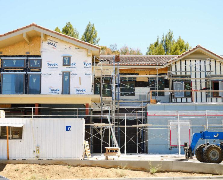 apartment homes under construction